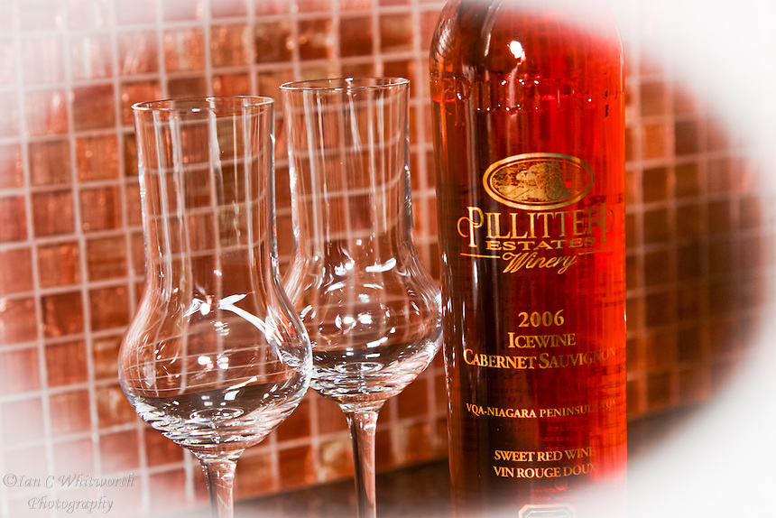Two glasses with Pillitteri red icewine