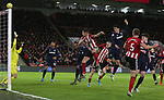 John Egan of Sheffield Utd misses shot at goal during the Premier League match at Bramall Lane, Sheffield. Picture date: 10th January 2020. Picture credit should read: Chloe Hudson/Sportimage