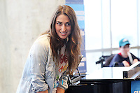PHILADELPHIA, PA - NOVEMBER 1 : One week from Election Day, Grammy and Tony nominated singer-songwriter Sara Bareilles pictured performing and campaigning for Hillary Clinton to highlight the stakes in this election for women, millennials and LGBT Americans at the Rooftop Lounge in Harnwell College House at University of Pennsylvania in Philadelphia, Pa on November 1, 2016  photo credit Star Shooter/MediaPunch