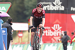 Tao Geoghegan Hart (GBR) Team Ineos crosses the finish line at the end of Stage 9 of La Vuelta 2019 running 99.4km from Andorra la Vella to Cortals d'Encamp, Spain. 1st September 2019.<br /> Picture: Luis Angel Gomez/Photogomezsport | Cyclefile<br /> <br /> All photos usage must carry mandatory copyright credit (© Cyclefile | Luis Angel Gomez/Photogomezsport)