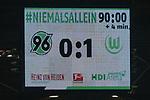 28.01.2018, HDI Arena, Hannover, GER, 1.FBL, Hannover 96 vs VfL Wolfsburg<br /> <br /> im Bild<br /> Anzeigetafel / Endstand, Feature, <br /> <br /> Foto &copy; nordphoto / Ewert