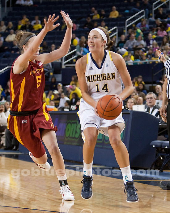 The University of Michigan women's basketball team beat Iowa State, 56-49, at Crisler Arena in Ann Arbor, Mich., on December 4, 2011.