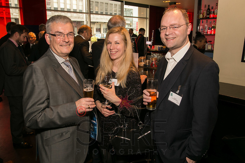 Pictured from left are Mike Butler, NorthCo Management, Jenny Mitchell of Jen Creative and Terry Ellis of H22 Solutions