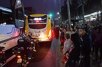 SAO PAULO, SP, 05.06.2014 - GREVE METRO SAO PAULO - Movimentacao na regiao do Metro Arthur Alvim no inicio da manha desta quinta-feira, 06. (Foto: Eric Ribeiro / Brazil Photo Press).