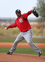 Washington Nationals minor leaguer Jermaine Van Buren during Spring Training at the Carl Barger Training Complex on March 19, 2007 in Melbourne, Florida.  (Mike Janes/Four Seam Images)