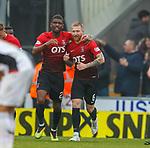 20.10.2018 St Mirren v Kilmarnock: Aaron Tshibola and Alan Power celebrate