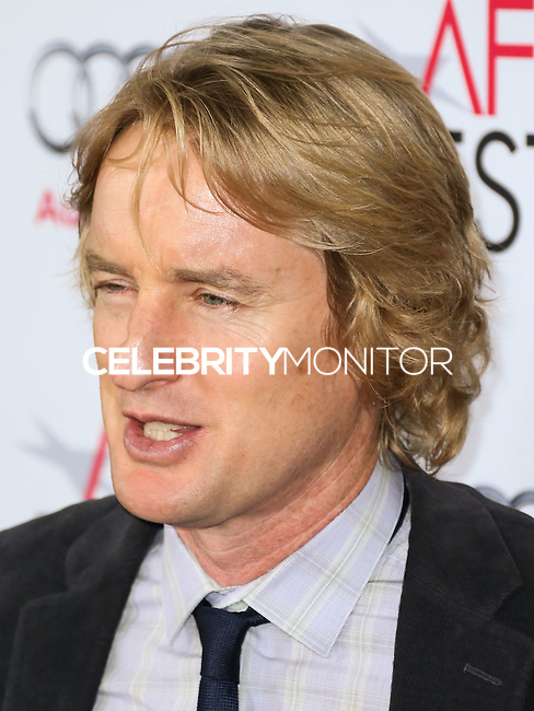 HOLLYWOOD, LOS ANGELES, CA, USA - NOVEMBER 11: Owen Wilson arrives at the AFI FEST 2014 - 'The Homesman' Gala Screening held at the Dolby Theatre on November 11, 2014 in Hollywood, Los Angeles, California, United States. (Photo by Xavier Collin/Celebrity Monitor)