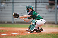 Dartmouth Big Green catcher Kyle Holbrook (9) catches a throw during a game against the Southern Maine Huskies on March 23, 2017 at Lake Myrtle Park in Auburndale, Florida.  Dartmouth defeated Southern Maine 9-1.  (Mike Janes/Four Seam Images)