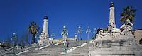 Europe/France/Provence-Alpes-Côte d'Azur/13/Bouches-du-Rhône/Marseille : Le grand escalier de la gare Saint-Charles