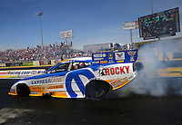 Mar 28, 2014; Las Vegas, NV, USA; NHRA funny car driver Matt Hagan during qualifying for the Summitracing.com Nationals at The Strip at Las Vegas Motor Speedway. Mandatory Credit: Mark J. Rebilas-USA TODAY Sports