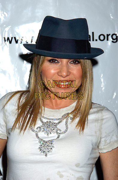 "E.G. DAILY.World Premiere of  ""Listen Closely'""a one woman autobiographical musical about a show business saga, held at The Court Theatre, Los Angeles, California, USA, .18 February 2005..portrait headshot hat.Ref: ADM.www.capitalpictures.com.sales@capitalpictures.com.©LFarr/AdMedia/Capital Pictures ."