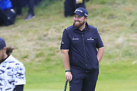 Shane Lowry (IRL) on the 18th green with a 6 shot lead during Sunday's Final Round of the 148th Open Championship, Royal Portrush Golf Club, Portrush, County Antrim, Northern Ireland. 21/07/2019.<br /> Picture Eoin Clarke / Golffile.ie<br /> <br /> All photo usage must carry mandatory copyright credit (© Golffile | Eoin Clarke)