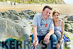 Pat and Elenor Mahoney from Listowel enjoying the sunny after afternoon on Ballybunion Beach on Tuesday