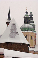 Saltzburg - Austria,  St Peters Church in the snow