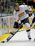 7 February 2009: University of Vermont Catamount defenseman Kevan Miller, a Sophomore from Los Angeles, CA, in action against the Providence College Friars during the second game of a weekend series at Gutterson Fieldhouse in Burlington, Vermont. The Catamounts swept the 2-game series notching 4-1 wins in both games. Mandatory Photo Credit: Ed Wolfstein Photo