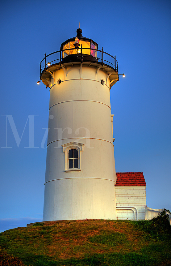 Nobska Point Light, Woods Hole, Cape Cod, MA, Massachusetts, USA