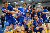 GRONINGEN - Volleybal, Abiant Lycurgus - Orion, Martiniplaza, Supercup , seizoen 2017-2018, 01-10-2017,  Lycurgus viert de super cup zege