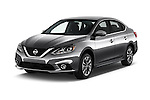 2017 Nissan Sentra SR 4 Door Sedan Angular Front stock photos of front three quarter view