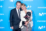 Inaki Gabilondo and Mercedes Mila attends to blue carpet of presentation of new schedule of Movistar+ at Queen Sofia Museum in Madrid, Spain. September 12, 2018. (ALTERPHOTOS/Borja B.Hojas)