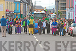 Taking part in the St. Patrick's day parade in Caherciveen