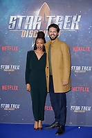 "Sonequa Martin-Green and Shazad Latif<br /> at the ""Star Trek Discovery"" photocall, Millbank Tower,  London<br /> <br /> <br /> ©Ash Knotek  D3347  05/11/2017"