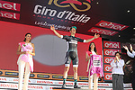 Lukas Postlberger (AUT) Bora-Hansgrohe wins Stage 1 and also wears the points jersey of the 100th edition of the Giro d'Italia 2017, running 206km from Alghero to Olbia, Sardinia, Italy. 4th May 2017.<br /> Picture: Eoin Clarke | Cyclefile<br /> <br /> <br /> All photos usage must carry mandatory copyright credit (&copy; Cyclefile | Eoin Clarke)<br /> <br /> All photos usage must carry mandatory copyright credit (&copy; Cyclefile | LaPresse)