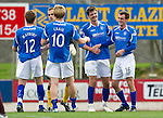 St Johnstone v Hearts...25.09.11   SPL Week 9.All smiles on th face of Cillian Sheridan at full time as he celebrates with David Robertson.Picture by Graeme Hart..Copyright Perthshire Picture Agency.Tel: 01738 623350  Mobile: 07990 594431
