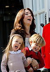 16-04-2014 Balcony 74th birthday of the Danish Queen at Marselisborg Castle in Aarhus.<br /> Princess Mary and Prince Vincent and Princess <br /> <br /> <br /> <br /> Credit: PPE/face to face<br /> - No Rights for Netherlands -