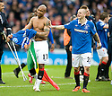 :: RANGERS' EL HADJI DIOUF AND VLADIMIR WEISS AT THE END OF THE GAME ::