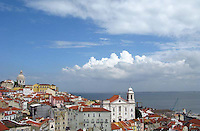 General view of the Alfama  in Lisbon