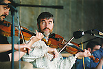 Fleadh Nua secretary, Brian Prior playing in a session at the Fleadh Nua - June 4, 1999. Photograph by John Kelly