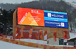 The womens slalom is cancelled.. Womens Slalom. Alpine Skiing. Yongpyong alpine centre. Pyeongchang2018 winter Olympics. Alpensia. Republic of Korea. 14/02/2018. ~ MANDATORY CREDIT Garry Bowden/SIPPA - NO UNAUTHORISED USE - +44 7837 394578