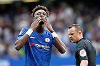 GOAL - Tammy Abraham of Chelsea salutes the fans during the Premier League match between Chelsea and Sheff United at Stamford Bridge, London, England on 31 August 2019. Photo by Carlton Myrie / PRiME Media Images.