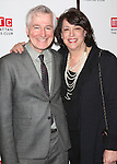 Playwright John Patrick Shanley and Artistic Director Lynne Meadow attend the 'Outside Mullinger' Broadway opening night after party at The Copacabana on January 23, 2014 in New York City.
