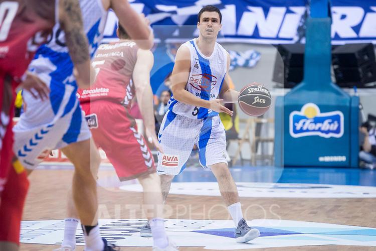Gipuzkoa Basket Dani Perez during Liga Endesa match between San Pablo Burgos and Gipuzkoa Basket at Coliseum Burgos in Burgos, Spain. December 30, 2017. (ALTERPHOTOS/Borja B.Hojas)