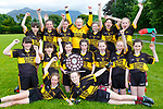 The Glenbeigh team celebrate winning  the Cumann na mbunscoil final in Beaufort on Thursday Shola O'Donovan, Orla Burke, Middle row Holly Clifford, Grainne Sweeney, Abbie Sheahan, Aoife Page, Casey O'Connor, Kayleigh Sheahan, Aideen O'Sullivan. Back row: Lucy Mcmahon, Leah Morris, Danielle Griffin, Cara Moriarty, Roisin Smith, Caithlin Griffin, Maeve Scannell