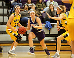 SIOUX FALLS, SD - DECEMBER 31: Kaely Hummel #12 from the University of Sioux Falls drives to the basket against Augustana University during their game Sunday afternoon December 31, 2017 at the Stewart Center in Sioux Falls. (Photo by Dave Eggen/Inertia)