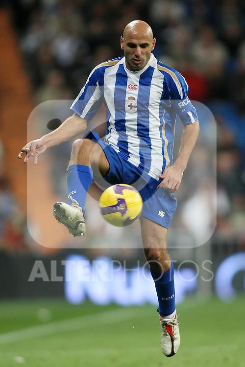 Deportivo de la Coruna's Manuel Pablo during La Liga match.January 25 2009. (ALTERPHOTOS/Acero).