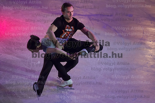 Ksenia Stolbova and Fedor Klimov of Russia silver medalists in the Pairs Figure Skating competition perform during the gala exhibition of the ISU European Figure Skating Championships in Budapest, Hungary on January 19, 2014. ATTILA VOLGYI