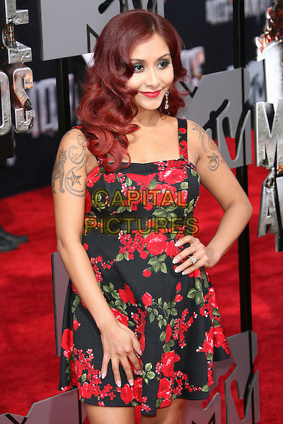 13 April 2014 - Los Angeles, California - Nicole 'Snooki' Polizzi. 2014 MTV Movie Awards held at Nokia Theatre L.A. Live. <br /> CAP/ADM<br /> &copy;AdMedia/Capital Pictures