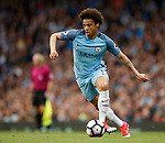 Leroy Sane of Manchester City during the English Premier League match at the Etihad Stadium, Manchester. Picture date: May 16th 2017. Pic credit should read: Simon Bellis/Sportimage