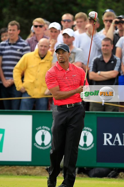 Tiger Woods (USA) tees off the 7th tee during Sunday's Final Round of the 141st Open Championship at Royal Lytham & St.Annes, England 22nd July 2012 (Photo Eoin Clarke/www.golffile.ie)