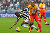 5th November 2017, Allianz Stadium, Turin, Italy; Serie A football, Juventus versus Benevento; Amato Ciciretti challenges Blaise Matuidi