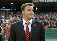 DC United Head Coach Curt Onalfo. New England Revolution defeated DC United 2-0,  at  RFK Stadium, Saturday April 3, 2010.