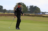 Jeunghun Wang (KOR) on the 14th green during Round 1of the Sky Sports British Masters at Walton Heath Golf Club in Tadworth, Surrey, England on Thursday 11th Oct 2018.<br /> Picture:  Thos Caffrey | Golffile<br /> <br /> All photo usage must carry mandatory copyright credit (© Golffile | Thos Caffrey)
