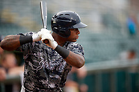 Tampa Yankees right fielder Jhalan Jackson (38) at bat during the second game of a doubleheader against the Bradenton Marauders on June 14, 2017 at LECOM Park in Bradenton, Florida.  Tampa defeated Bradenton 5-1.  (Mike Janes/Four Seam Images)