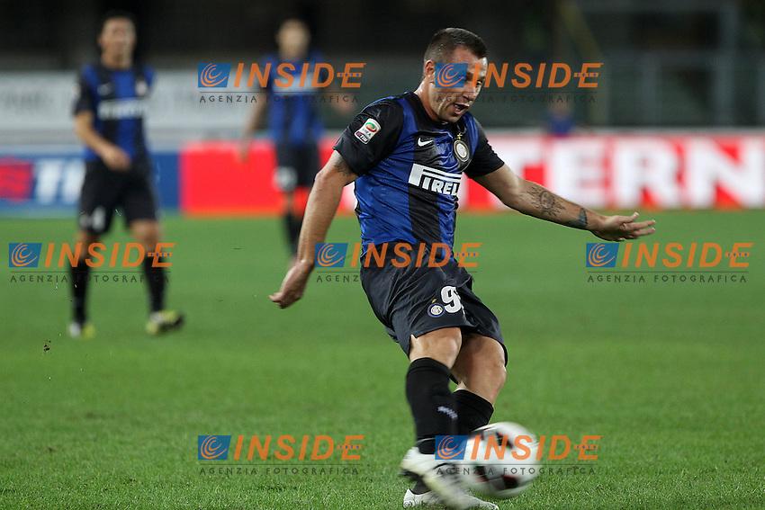 "Antonio Cassano Inter.Verona 26/09/2012 Stadio ""Bentegodi"".Football Calcio Serie A 2012/13.Chievo v Inter.Foto Insidefoto Paolo Nucci."