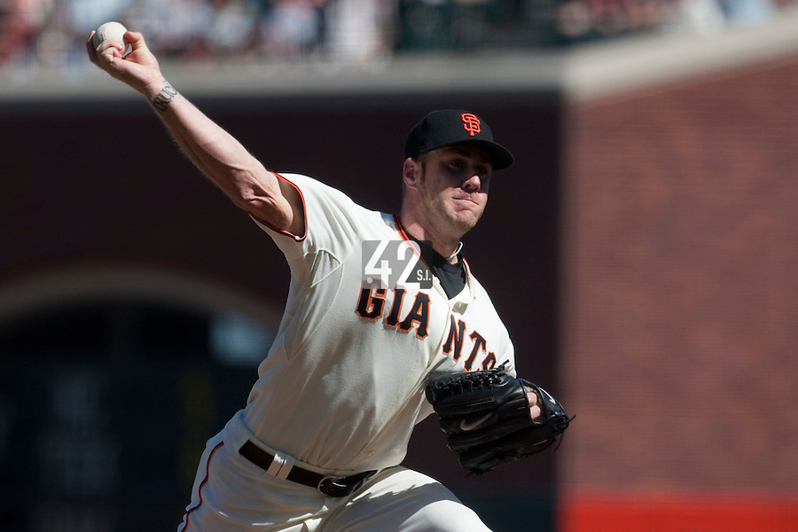 19 April 2009: San Francisco Giants' Brian Wilson pitches against the Arizona Diamondbacks during the San Francisco Giants' 2-0 win  against the Arizona Diamondbacks at AT&T Park in San Francisco, CA.