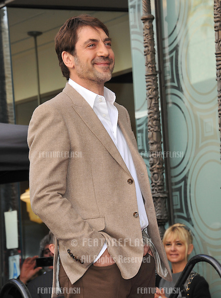 Javier Bardem on Hollywood Boulevard where he was honored with the 2,484th star on the Hollywood Walk of Fame..November 8, 2012  Los Angeles, CA.Picture: Paul Smith / Featureflash