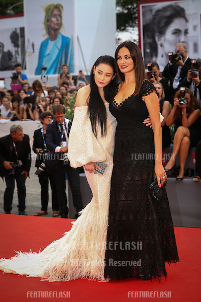 Zhang Yan &amp; Maria Grazia Cucinotta  at the Opening Ceremony, premiere of Everest at the 2015 Venice Film Festival.<br /> September 2, 2015  Venice, Italy<br /> Picture: Kristina Afanasyeva / Featureflash